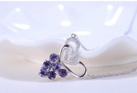 925 Sterling Silver Grape Necklace Women Jewellery Fashion Pendant Necklace