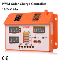 Good price 40A PWM solar charge controller with LED display