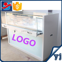 Wholesale glass display cases/Glass store mobile phone display showcase/Glass display cases portable