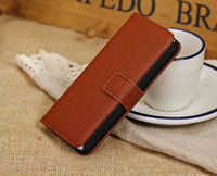 New Litchi PU Leather Card Flip Pocket Wallet Pouch Case Cover for iPhone5C