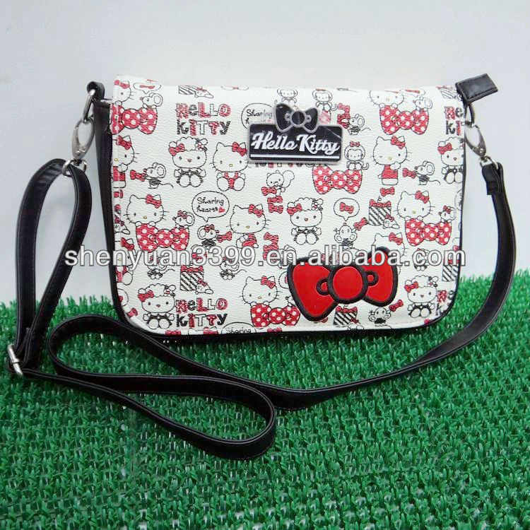 China factory wholesale high quality hello kitty bag for ladies cell phone mini bag woman shoulder