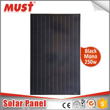 MUST TOP High Efficiency New-Tech All Black 300W Mono Solar Module PV Solar Panel
