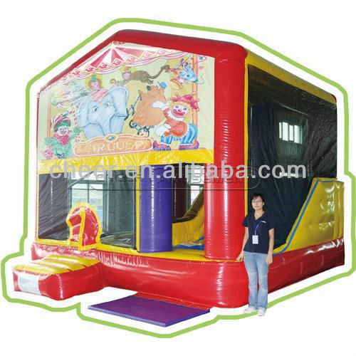 Cheer Amusement children indoor inflatable toys with slide bouncer