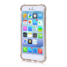 Anti Scratch Newest Transparent TPU Back Cover With Soft Electroplate Phone Case TPU Mobile Case for iphone 6 plus