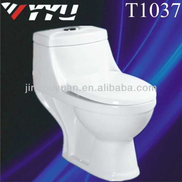 Floor mounted with cheap price ceramic siphon wc toilet T1037