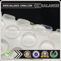 Transparent self-adhesive silicone rubber foot hot pads