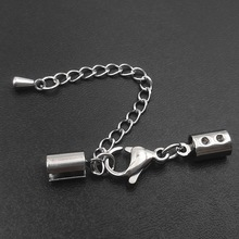 wholesale Stainless Steel Adjustable Clasp with Extender Chain for jewelry