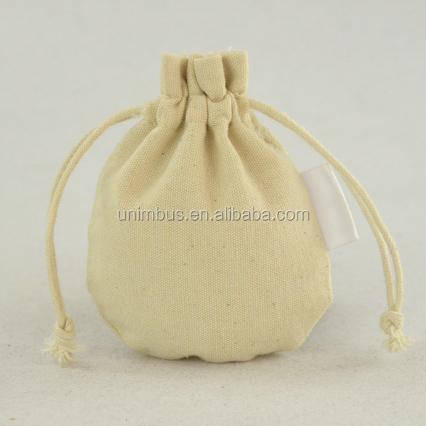 wholesale round bottom canvas cotton pouch packing jewellery purses and pouches bags