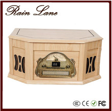Rain Lane Stereo casstte multi-function Wooden box best vintage record players