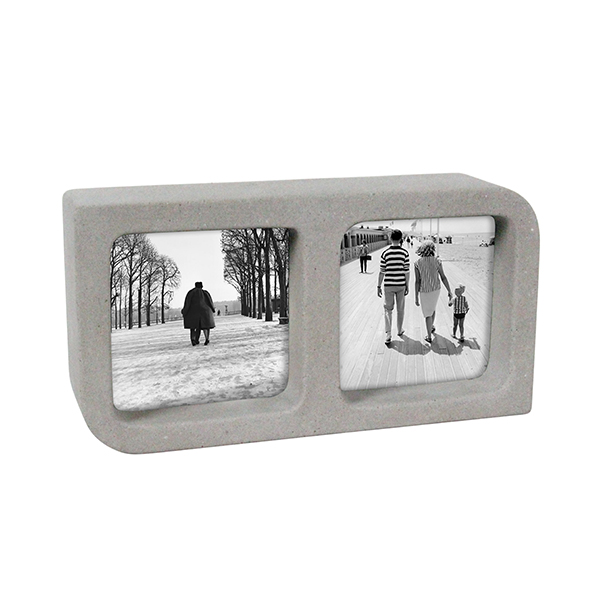 Handmade double concrete picture photo frame cement different types photo frames