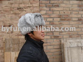 BY-113 rabbit fur hat rabbit hat hare hat