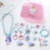 Children's Jewelry Girls Necklace Accessories Fashion Bracelet Ring Jewelry Hairpins Rubber Band Headwear 18 Pieces