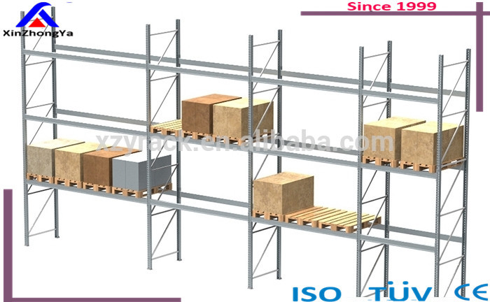 warehouse Heavy duty galvanized speedrack storage logistics structural pallet rack solution factory supplier