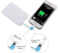Ultra slim business card phone charger power banks with built-in cable for promotional gift