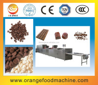 Automatic Chocolate Drop Casting Machine / chocolate dipping machine with factory price+86 18939580276