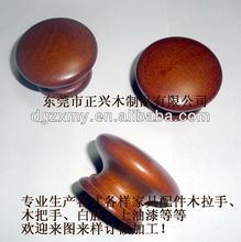 S Size Mushroom Shaped Single Hole Small Wooden Knob