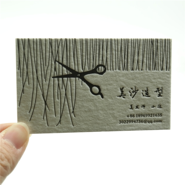 Factory Price Embossed Paper Business Cards Header Card