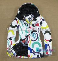 XXL Women Colorful Ski Jackets for 2013 winter sports jacket