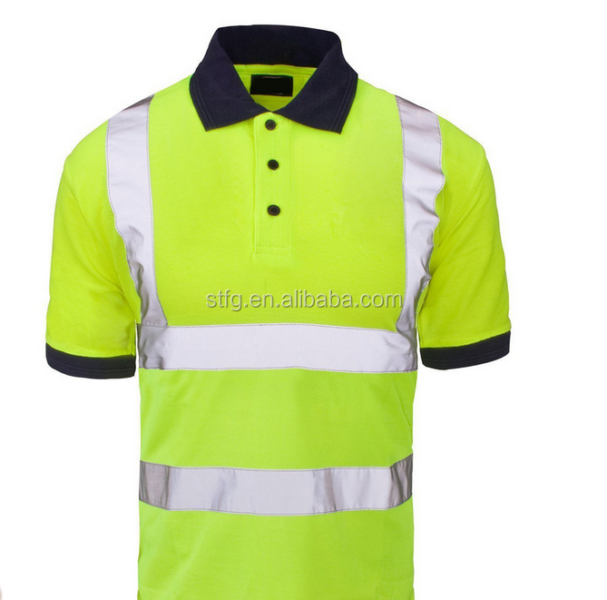 Fluorescent Polo Shirt Design Hi Vis