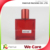 perfume refill bottle 50ml Red classic square perfume glass bottle wholesale