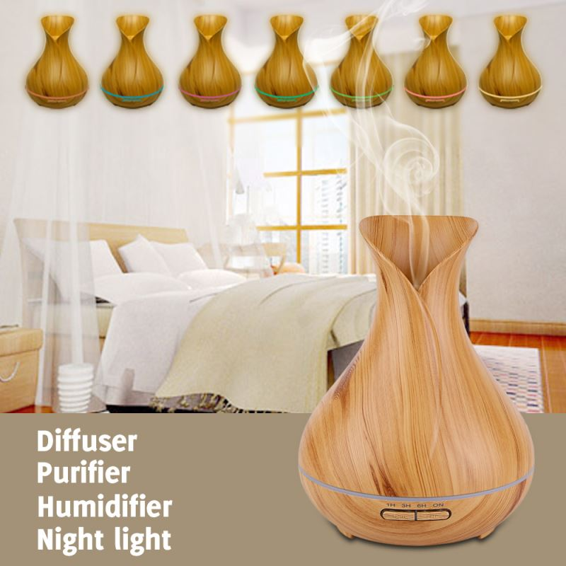 Mini shape Wood grain Commercial aroma diffuser For cleaning air