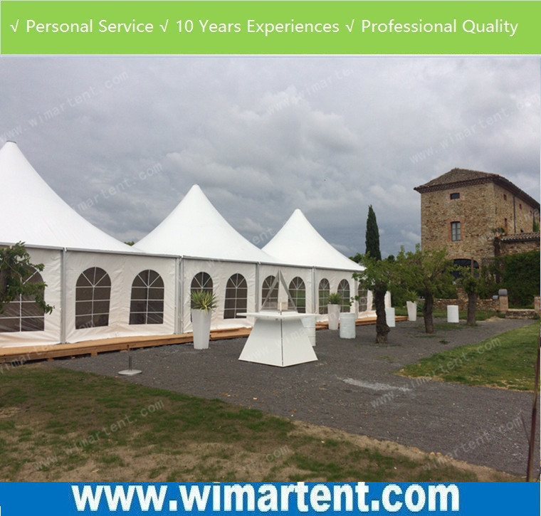 Solid Wall Pagoda Tent 8x8m for public and private events