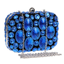colorful evening clutch bag crystal stone handbag