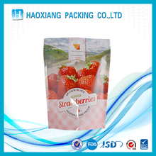 Recyclable transparent custom plastic packing bags with own logo for food packaging