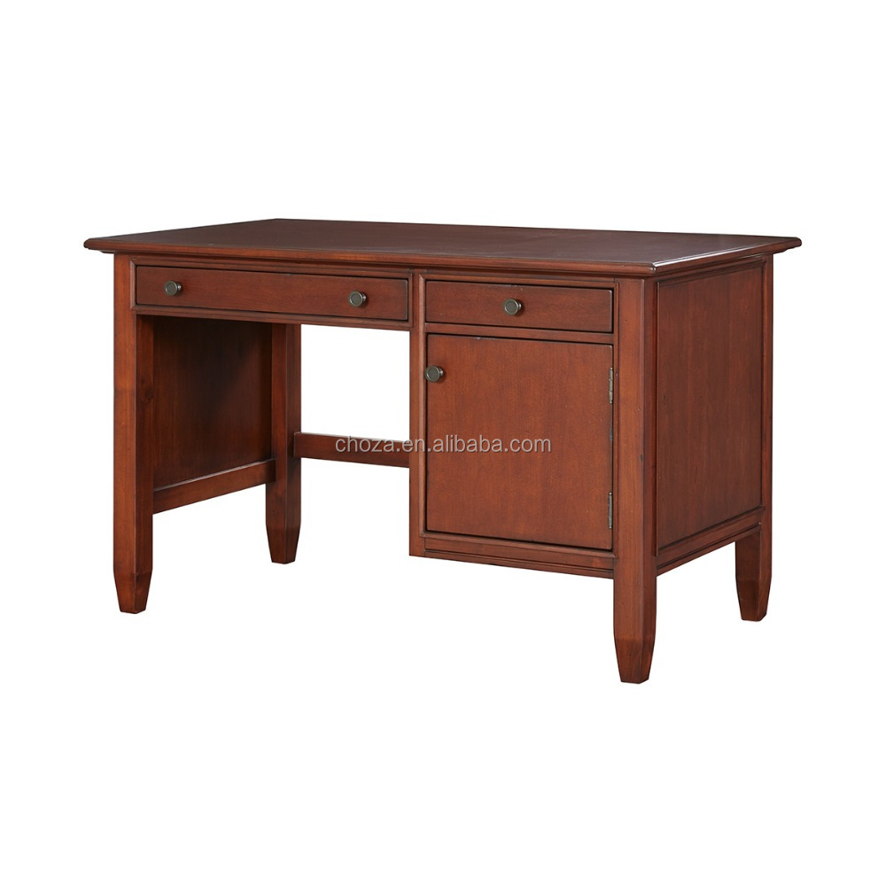 F40314A-1 Luxury home office furniture solid wood office laptop lap desk with drawer