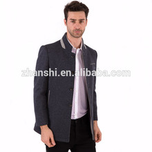 zhanshi wool jacket knitted mens gery winter jackets