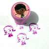 48ct New Design Wholesale Cheap Pretty Girl Stampers with Self Ink Rubber Stamps for Promotion Gifts
