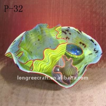 On Sale Unique Style Hand Made Blown Glass Art Murano Glass Bowls