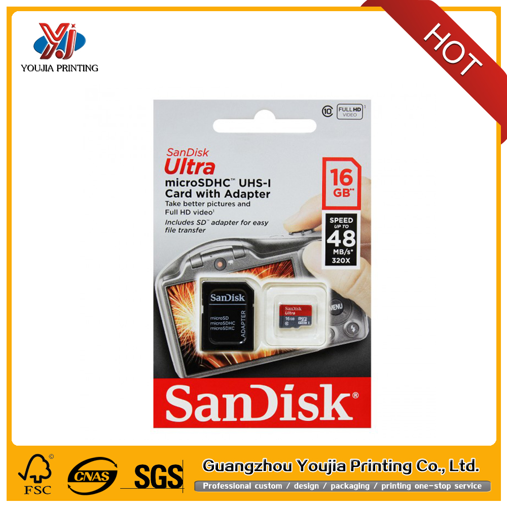packaging for micro sd memory card bliter packaging