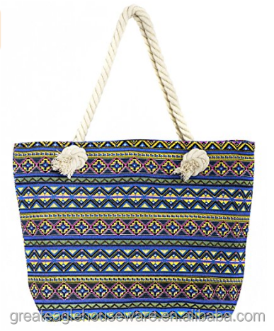 full color printing beach tote bag