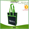 custom recycling non woven fabric 2 bottles Wine tote bag front pocket alibaba trade assurance
