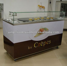 Street Vending Kiosk/ Mobile wooden Vending Booth/ Crepe mobile kiosk carts\crepe cart with double head \hot sell crepe cart