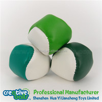 ICTI SEDEX factory promotional branded wholesale hacky sack & leather footbag