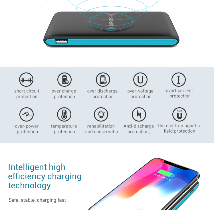 Universal smallest 2 in 1 emergency power bank 8000mAh for portable phones