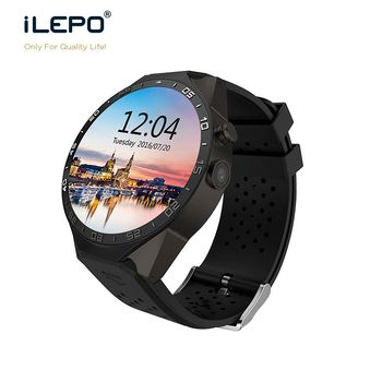 KW88 android 5.1 OS quad core sports watch with heart rate test, 3g wifi dz09 smart watch with HD camera, android hand watch mo