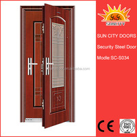 Used Exterior French reinforced steel security door For Sale SC-S034