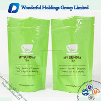 small tea packaging bag resealable aluminum foil stand up pouch ziploc bag