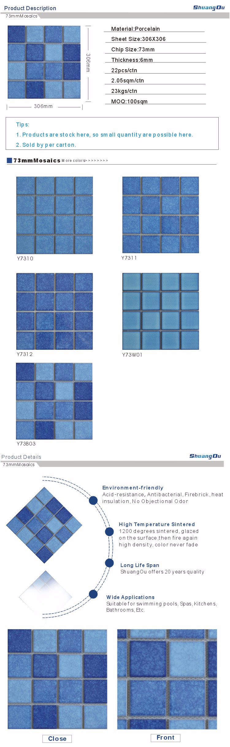 3x3 porcelain swimming pool mosaic tiles buy swimming Swimming pool tile installation cost