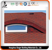SGB Fish Scale Type Colorful Asphalt Shingle/ Single Layer Asphalt Shingle/Bituminous Shingle