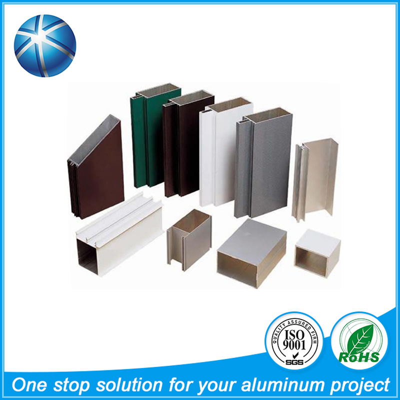 Customized shapes and anodized aluminum profile for building materials