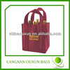 Durable in use wine carrier bag