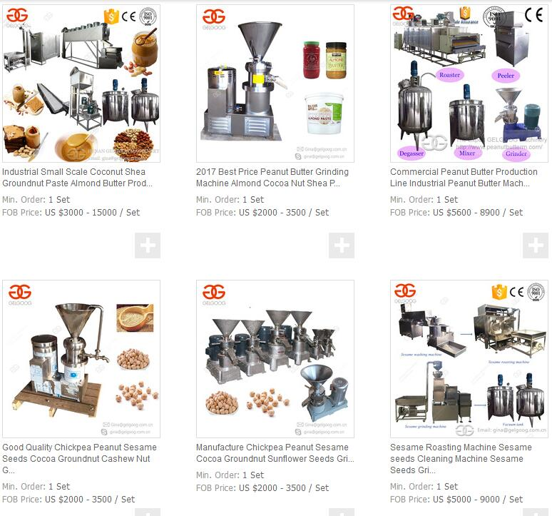 Industrial Small Scale Coconut Shea Groundnut Paste Almond Butter Production Line Peanut Butter Making Machine