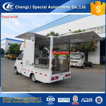 CN Chinese New 4x2 Outdoor Food Van truck Mobile shopping food cart for ice cream opcorn chips snack machine Innovation Design