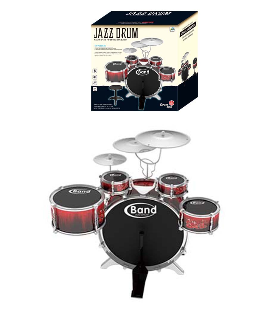 New arrival plastic toy musical instrument jazz drum set