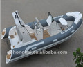 RIB520 fishing boat inflatable yacht Rigid Hull Fiberglass Inflatable Boat