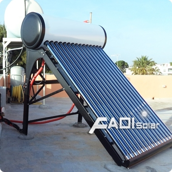 Stainless steel solar hot water system (135 liter)